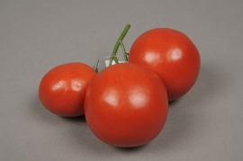 a088nn Grappe de 3 tomates artificielles rouge
