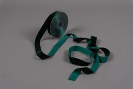 A088UN Ruban de velours vert 25mm x 9m