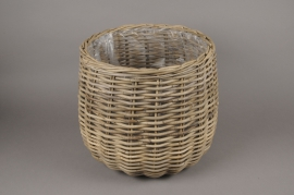 A089NM Rattan baskets planter D44cm H40cm
