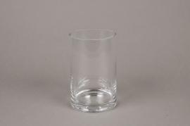 A090I0 Vase verre cylindre D10cm H16cm