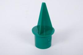 A090QV Sachet de 25 bougeoirs plastique vert D2.3cm
