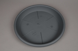 A091H7 Grey plastic saucer D38cm H5cm