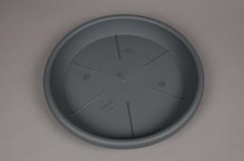 A091H7 Soucoupe en plastique anthracite D38cm H5cm