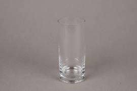 A091I0 Glass cylinder vase D7cm H16cm