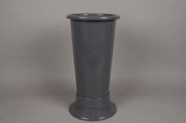 A091T7 Vase en plastique  gris D22cm H50cm