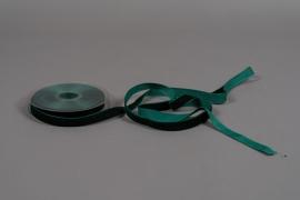 A091UN Ruban de velours vert 15mm x 9m