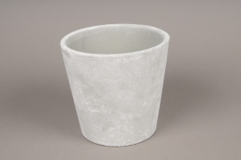 A092TN Grey cement ceramic pot D17cm H16cm