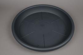 A093H7 Grey plastic saucer D56cm H8cm