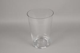 A093PQ Vase en verre évasé D23cm H35cm