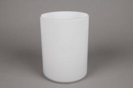A093PS Vase cylindrique en verre blanc D15cm H20cm