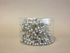 A094MG Boîte de 500 perles sur épingle argent 6x65mm
