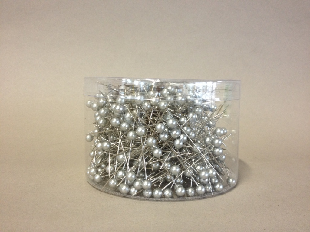 A094MG  Box of 500 silver beads on pin 6x65mm