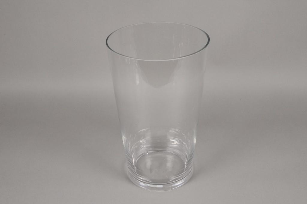 A094PQ Vase en verre évasé D23.5cm H40cm