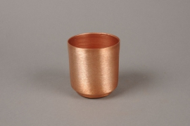 A095A9 Cache-pot en zinc cuivre D8cm H8.5cm