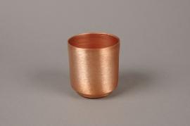 A095A9 Copper zinc planter D8cm H8.5cm