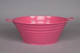 A096KM Bowl zinc fuchsia pink D25 H10