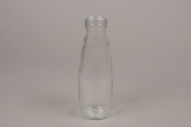 A096PM Pack of 12 glass bottle D7cm H21cm