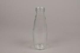 A096PM Set de 12 bouteilles en verre D7cm H21cm