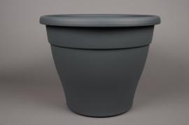 A097H7 Grey plastic pot D40cm H32.5cm