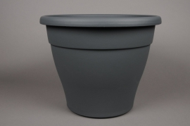A097H7 Pot en plastique botanique anthracite D40cm H32.5cm