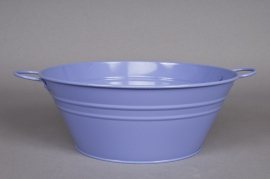 A097KM Bowl zinc lavender blue D25 H10