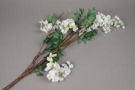 a098nn Artificial white wisteria branch H110cm