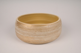 A099LE Golden ceramic bowl D25cm H11cm