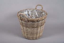 A099NM Rattan baskets planter D50cm H40cm
