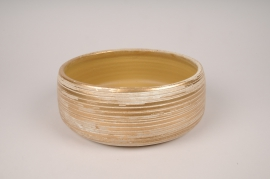 A100LE Golden ceramic bowl D22cm H9cm