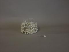 A100MG Boîte de 250 perles sur épingle champagne 10x60mm