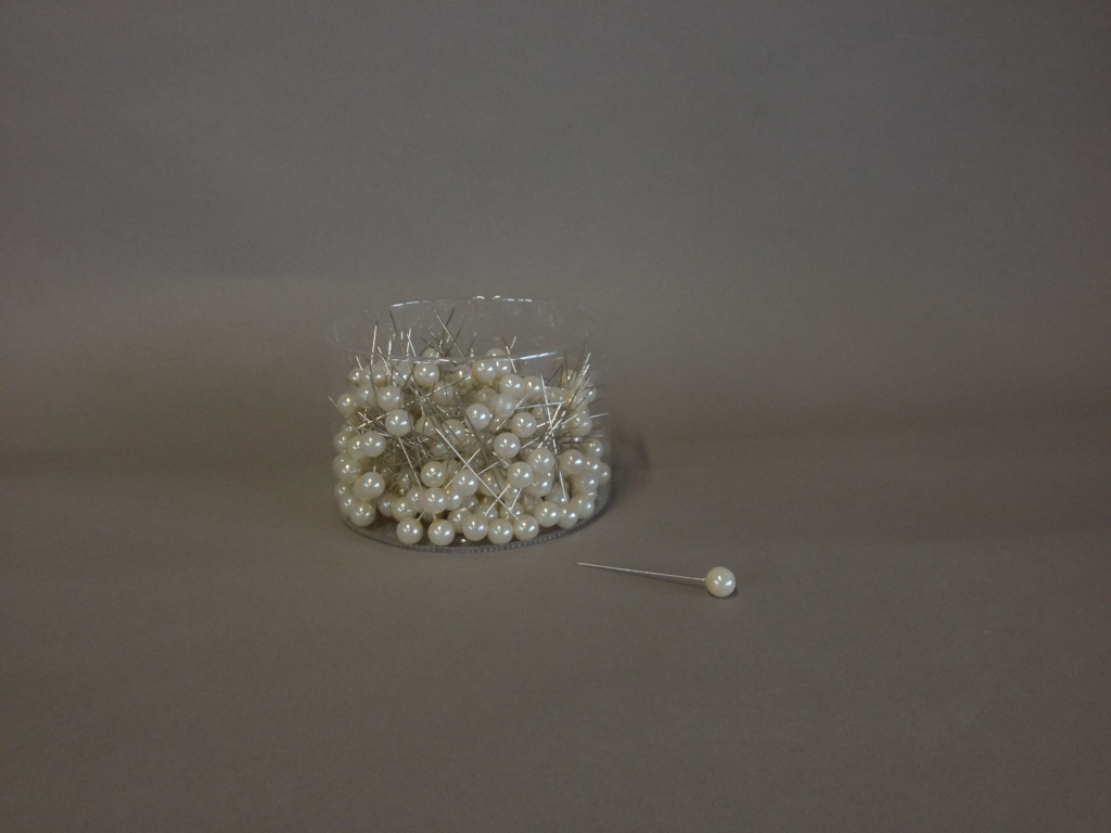 A100MG Box of 250 champagne beads on pin 10x60mm