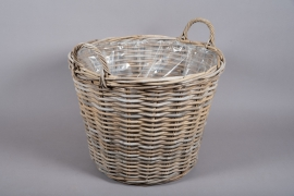 A100NM Rattan baskets planter D60cm H45cm