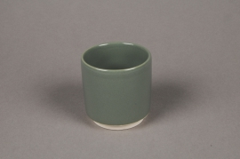 A100T3 Cache-pot en céramique kaki D7cm H7cm