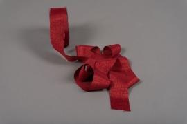 A100UN Red satin ribbon 40mm x 20m