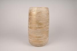A101LE Golden ceramic vase D17cm H36cm