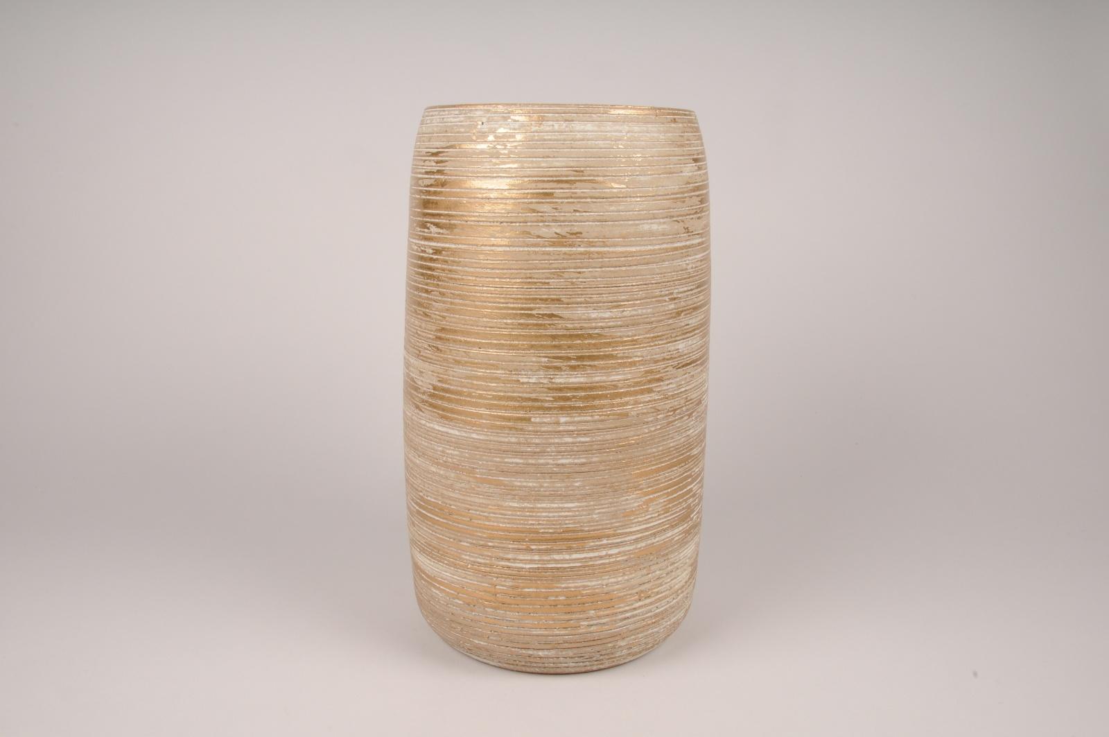 A101LE Vase en céramique doré D17cm H36cm