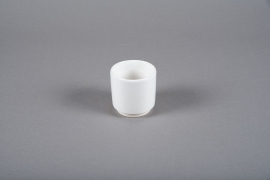A101T3 Cache-pot en céramique blanc D7cm H7cm