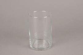 A101W3 A075IH Vase en verre cylindre D10cm H15cm