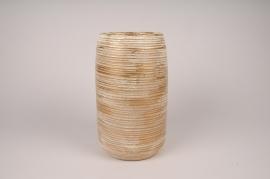 A102LE Vase en céramique doré D15cm H29.5cm
