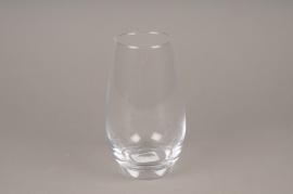 A102PQ Vase en verre obus D10cm H18cm