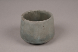 A102TN Green cement ceramic pot D11cm H8.5cm