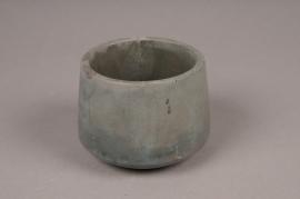 A102TN Cache-pot en céramique vert D11cm H8,5cm