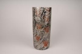 A103LE Black ceramic vase D18cm H40cm