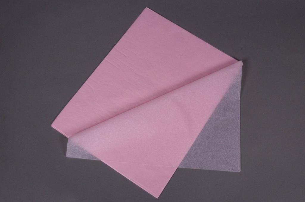 A103QX Paquet de 480 feuilles papier de soie rose pâle 50x75cm