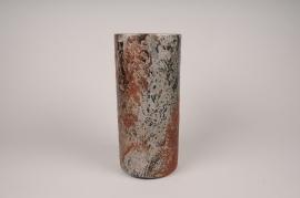 A104LE Black ceramic vase D14cm H30cm