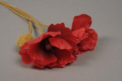 Artificial red poppy h75cm mightylinksfo