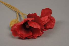 a105nn Artificial red poppy H75cm