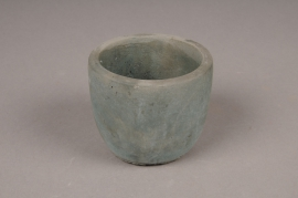 A105TN Green cement terracotta pot D8.5cm H7.5cm