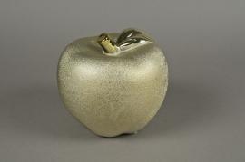 A105UD Pomme en céramique perlée or D18cm H17cm