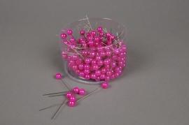 A106MG Boîte de 250 perles sur épingle fuchsia 10x60mm
